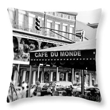 Coffee And Beignets Throw Pillow by Scott Pellegrin