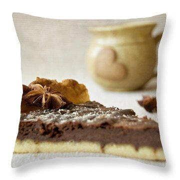 Coffee And Cake Throw Pillow