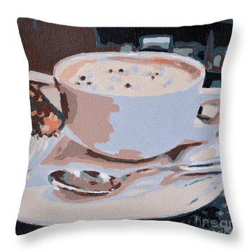 Coffee And Cupcake Throw Pillow