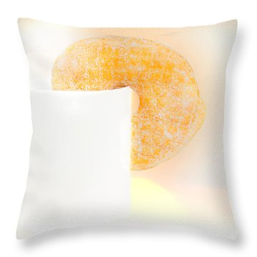Coffee And Donuts Two Throw Pillow by Bob Orsillo