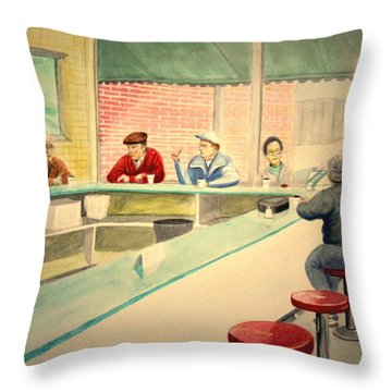 Coffee And Doughnuts Throw Pillow