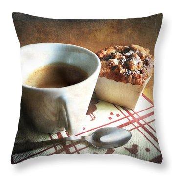 Coffee And Muffin Throw Pillow by Barbara Orenya