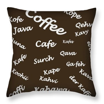 Coffee Around The World Throw Pillow