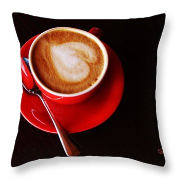 Cup Of Coffee Throw Pillows
