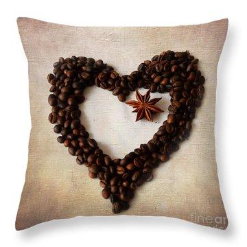 Coffee Heart II Throw Pillow