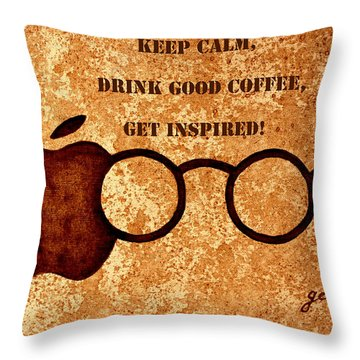 Coffee Lovers Quote 2 Throw Pillow