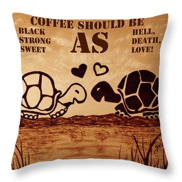 Coffee Lovers Reminder Throw Pillow