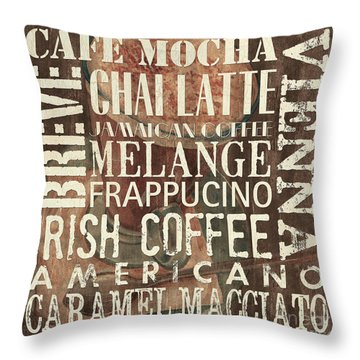 Coffee Of The Day 1 Throw Pillow by Debbie DeWitt