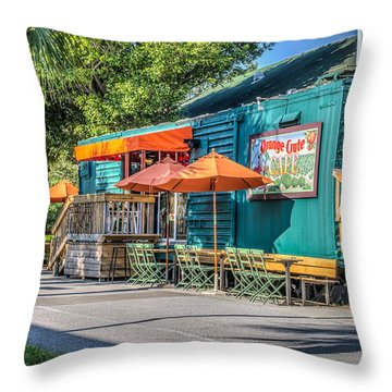 Coffee Shop Throw Pillow by Jane Luxton