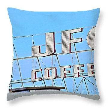 Coffee Sign Throw Pillow