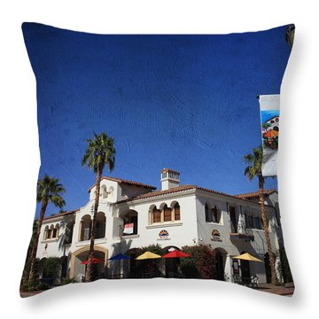 Coffee Spot Throw Pillow by Laurie Search
