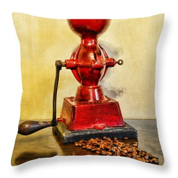 Coffee The Morning Grind Throw Pillow by Paul Ward