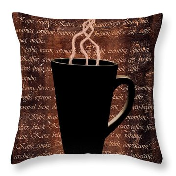 Coffee Time Throw Pillow by Barbara St Jean