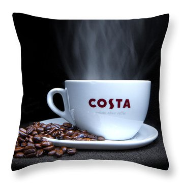 Coffee Time Throw Pillow by Rob Guiver