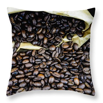 Coffee Unmilled  Throw Pillow