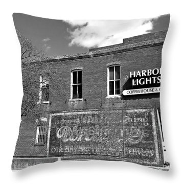 Coffeehouse  Throw Pillow by Chris Berry