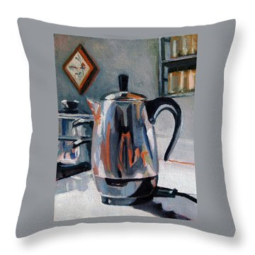 Coffeepot Throw Pillow