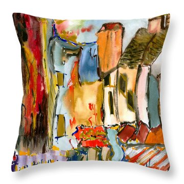 Cognac And Chablis Throw Pillow by Lesley Fletcher