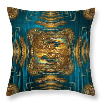 Throw Pillow featuring the digital art Coherence - Abstract Art By Giada Rossi by Giada Rossi