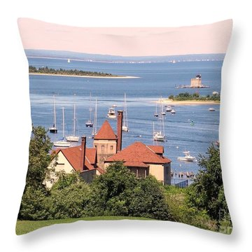 Coindre Hall Boathouse Throw Pillow by Ed Weidman