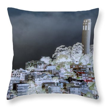 Coit Tower Surreal Throw Pillow by Diego Re