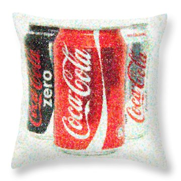 Coka Cola Pointillism Throw Pillow by Antony McAulay