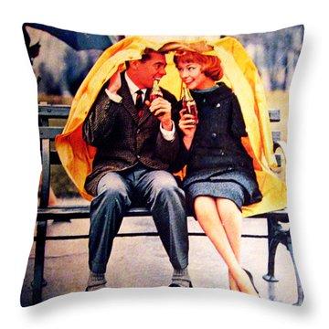 Coke In The Rain Throw Pillow by Georgia Fowler