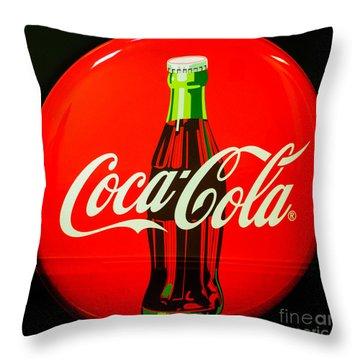 Coke Top Throw Pillow by Tikvah's Hope