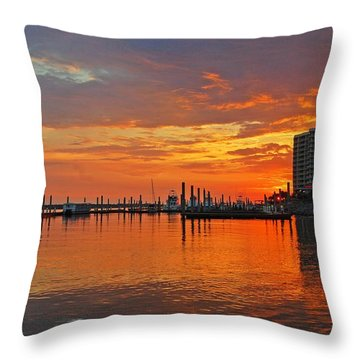 Throw Pillow featuring the digital art Colbalt Morning by Michael Thomas