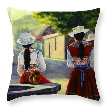 Colca Valley Ladies Throw Pillow