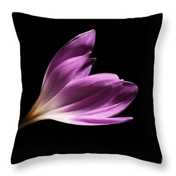 Throw Pillow featuring the photograph Colchicum  by Judy Whitton