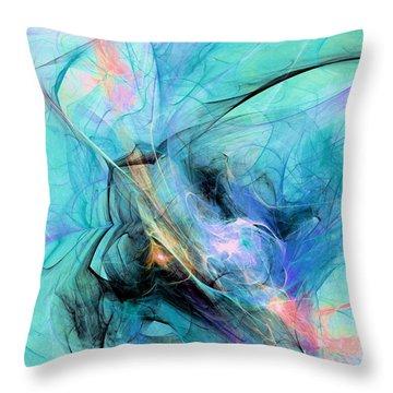 Cold Throw Pillow by Anastasiya Malakhova