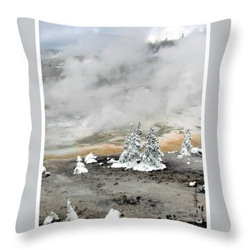 Cold And Hot Trees Throw Pillow