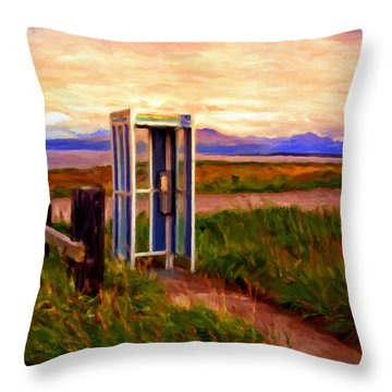 Cold Bay Ferry Service Throw Pillow