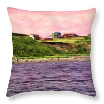 Cold Bay From The Dock Throw Pillow