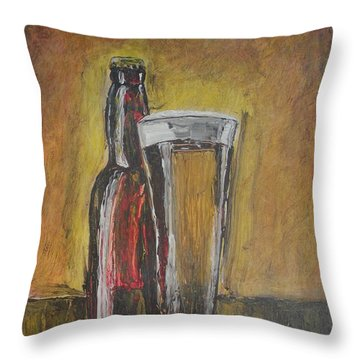 Cold Beer Throw Pillow