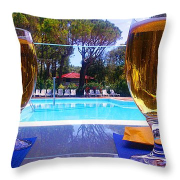 Cold Beers Throw Pillow by Giuseppe Epifani
