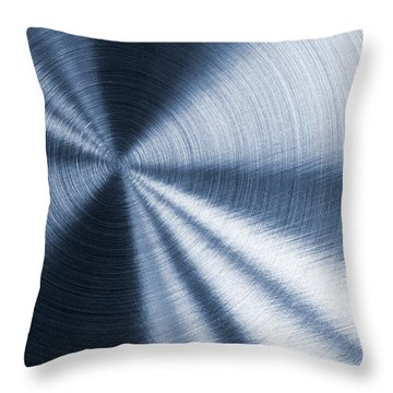 Cold Blue Metallic Texture Throw Pillow
