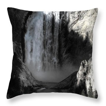 Throw Pillow featuring the photograph Cold Cascade  by David Andersen