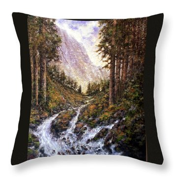 Cold Creek Throw Pillow