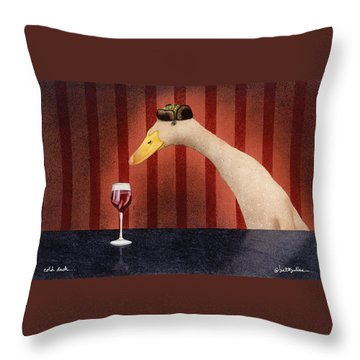Cold Duck... Throw Pillow by Will Bullas