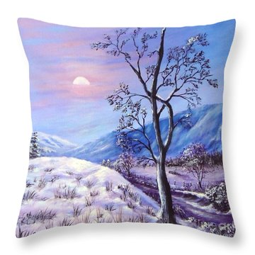 Cold Evening Throw Pillow