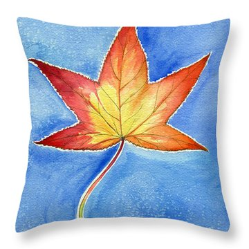 Cold Fall Sky Throw Pillow by Katherine Miller