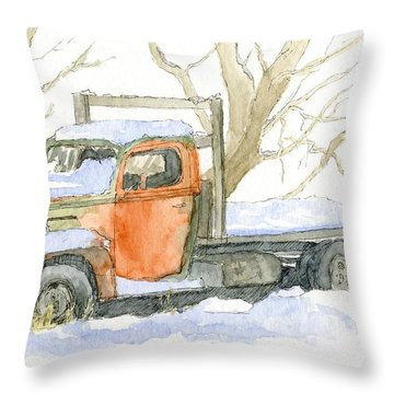 Cold Ford Throw Pillow