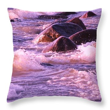 Cold Lake Rolls Throw Pillow
