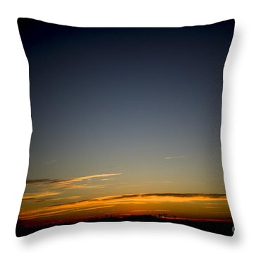 Cold Morning Sunrise Throw Pillow