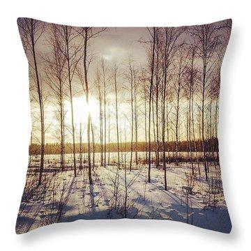Cold 'n' Golden Throw Pillow