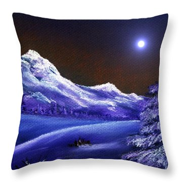 Cold Night Throw Pillow by Anastasiya Malakhova