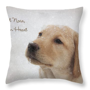Cold Nose Warm Heart Throw Pillow