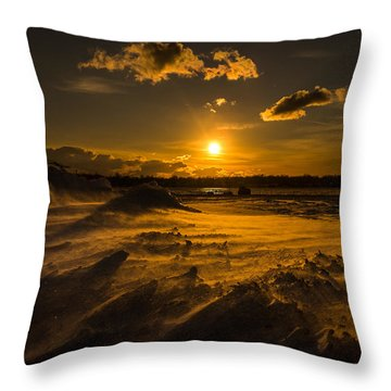 Cold Solace Throw Pillow